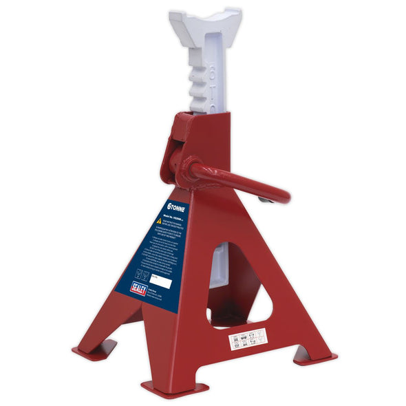 Sealey Axle Stands (Pair) 6tonne Capacity per Stand Ratchet Type