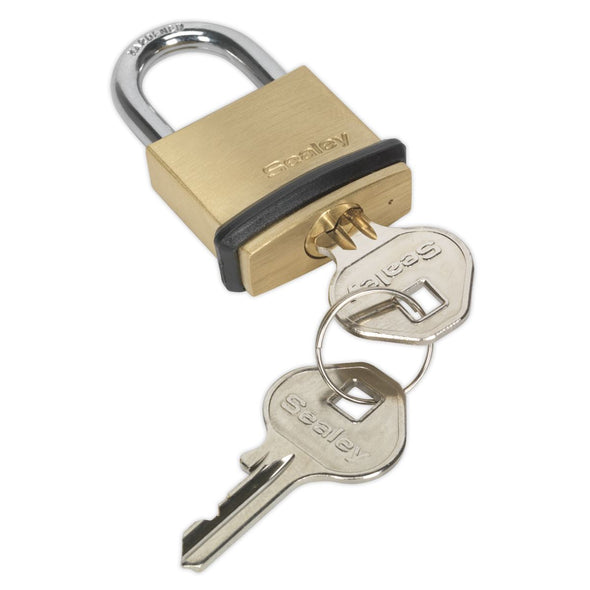 Sealey Brass Body Padlock 30mm