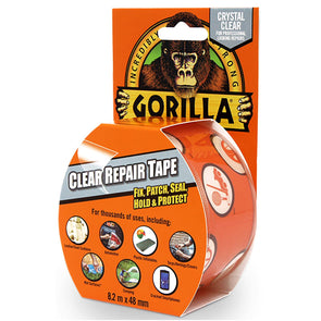 Gorilla 48mm x 8.2m Crystal Clear Repair Tape
