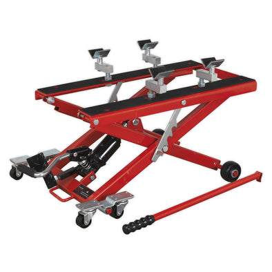 Sealey Motorcycle & Quad Scissor Lift 500kg Capacity Hydraulic