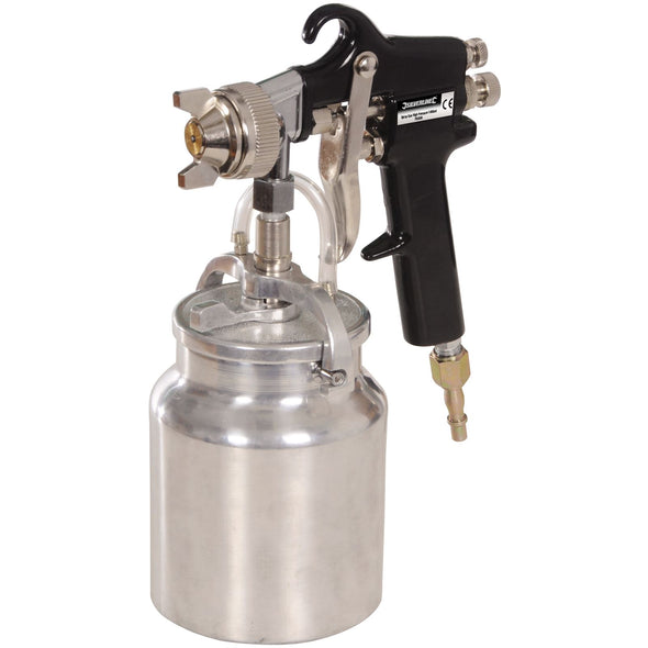 "Silverline 1000ml High Pressure Spray Gun Adustable Pattern 1/4"" Air Tool"