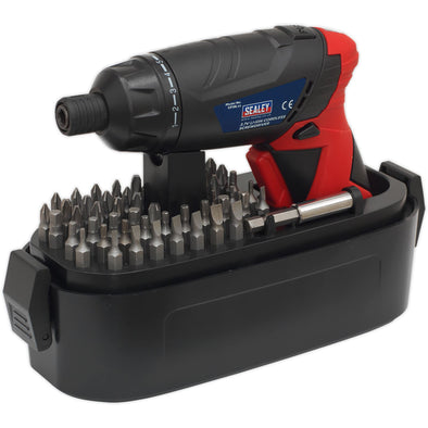 Sealey 53 Piece Cordless Screwdriver Set 3.6V Lithium-Ion