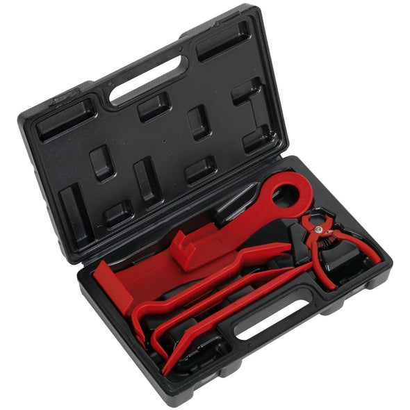 Sealey 6 Piece Trim & Upholstery Set in Case Removal Pliers Car Interior
