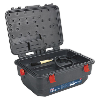 Sealey Mobile Parts Cleaning Tank with Brush