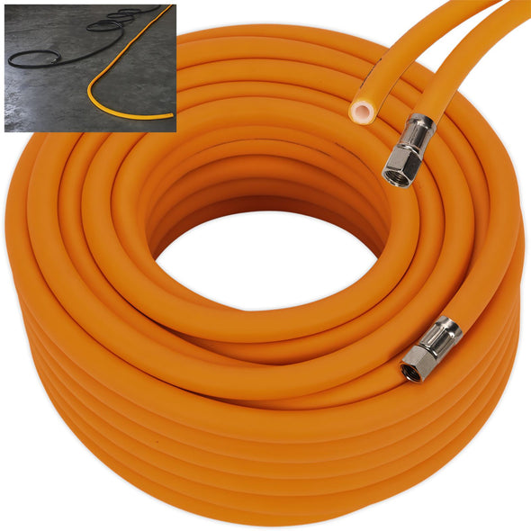 "Sealey 20m x Ø10mm Hybrid High Visibility Air Hose with 1/4"" BSP Unions"