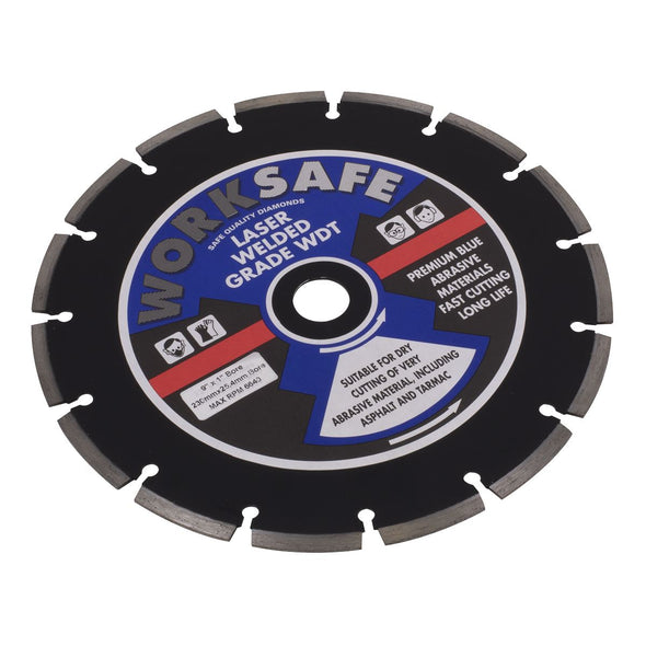 Worksafe by Sealey Asphalt/Tarmac Diamond Blade Ø230 x 22mm