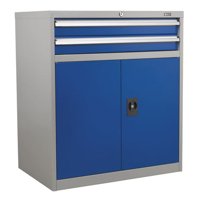 Sealey Premier Industrial Industrial Cabinet 2 Drawer & 1 Shelf Double Locker