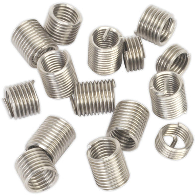 Sealey Thread Insert M12 x 1.75mm for TRM12 Threaded Inserts Helicoil 8 Pack