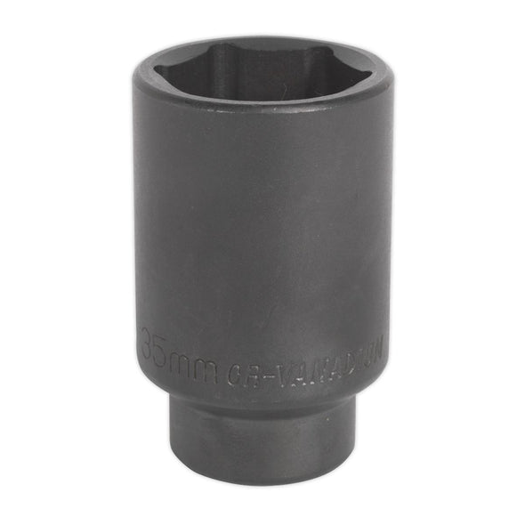 "Sealey 35mm Deep Impact Socket 1/2"" Drive Hand Ratchet Air Wrench Handle"