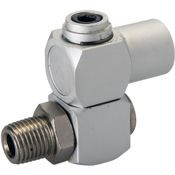 "Silverline Air Line Swivel Connector 1/4"" BSP Female Tool Fitting Anodised Aluminium"