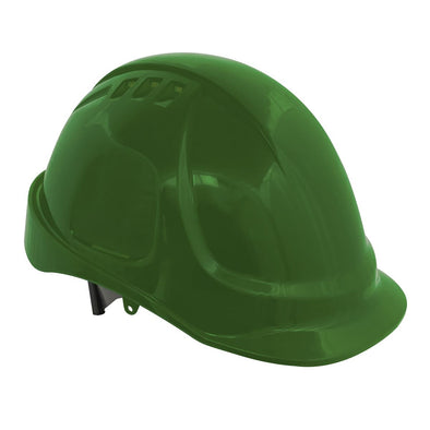 Worksafe by Sealey Plus Safety Helmet - Vented (Green)