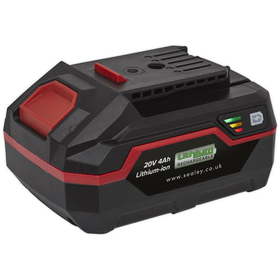 Sealey Power Tool Battery 20V 4Ah Lithium-ion for Sealey Cordless CP20V Series Tools
