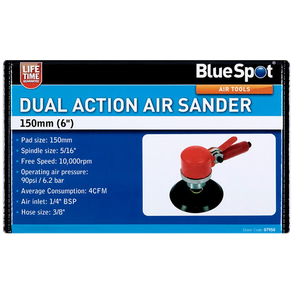 "BlueSpot Orbital Air Sander Dual Action 150mm 1/4"" BSP Inlet"