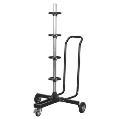 Sealey Wheel Storage Trolley 100kg Capacity with Handle