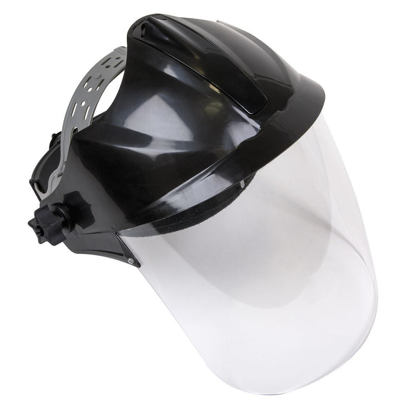 Worksafe by Sealey Deluxe Brow Guard with Aspherical Polycarbonate Full Face Shield
