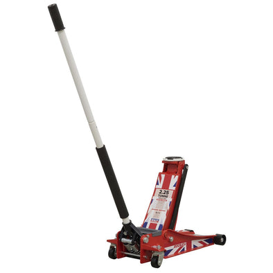 Sealey Trolley Jack 2.25tonne Low Entry Rocket Lift Union Flag