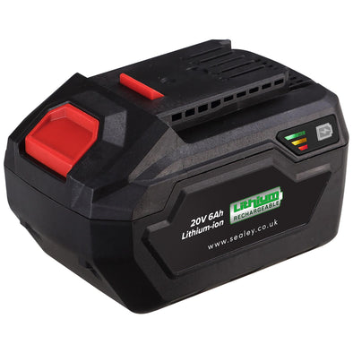 Sealey Power Tool Battery 20V 6Ah Lithium-ion for CP20V Series Tools