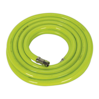 "Sealey Air Hose High Visibility 5m x Ø10mm with 1/4""BSP Unions"