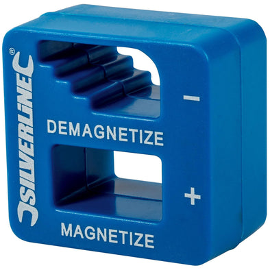 Silverline Magnetiser Demagnetiser Screwdriver Tweezers Ferrous Metal