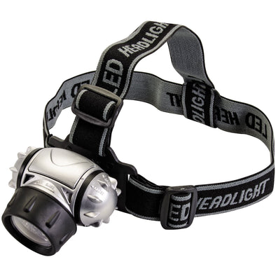 Silverline 12 LED Multi-Mode Headlamp Light Water Resistant Bike