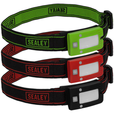 Sealey Rechargeable Head Torch 2W COB LED Auto Sensor 160 Lumens
