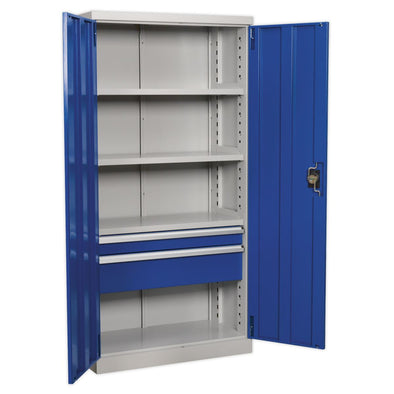 Sealey Premier Industrial Industrial Cabinet 2 Drawer 3 Shelf 1800mm