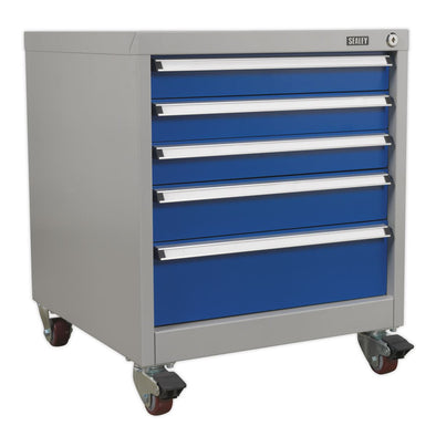 Sealey Premier Industrial Mobile Industrial Cabinet 5 Drawer
