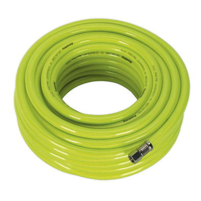 "Sealey Air Hose High Visibility 20m x Ø8mm with 1/4""BSP Unions"