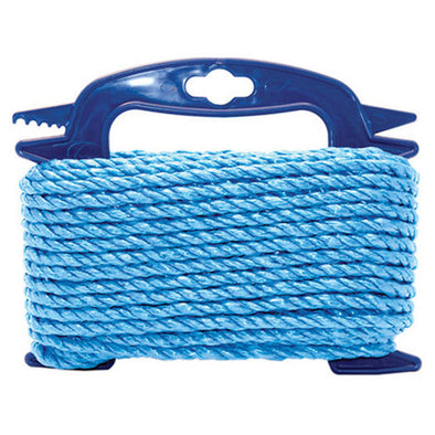 Faithfull Polypropylene Twisted Blue Poly Rope Rot and Mildew Resistant