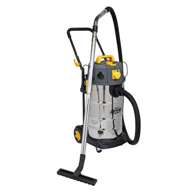 Sealey Vacuum Cleaner Industrial Dust-Free Wet/Dry 38L 1100W/110V Stainless Steel Drum M Class Filtration