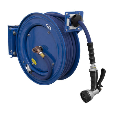 Sealey Heavy-Duty Retractable Water Hose Reel 15m Ø13mm ID Rubber Hose