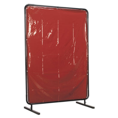 Sealey Workshop Welding Curtain to BS EN 1598 & Frame 1.3 x 1.75m