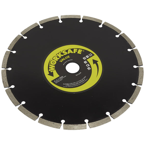 Worksafe by Sealey Diamond Cutting Blade 230mm x 22.23mm Bore Value