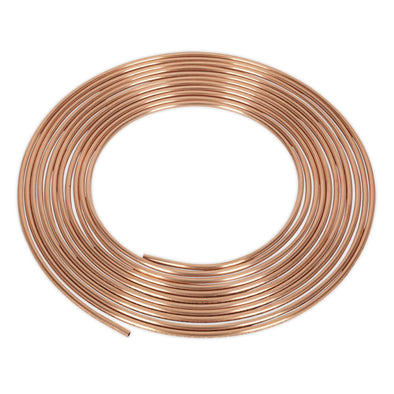 "Sealey Brake Pipe Copper Tubing 22 Gauge 3/16"" x 25ft BS EN 12449 C106"