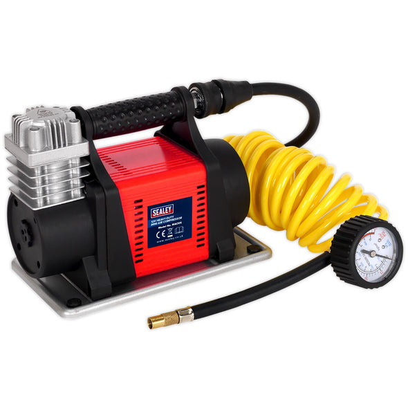 Sealey Tyre Inflator Mini Air Compressor 12V Heavy Duty