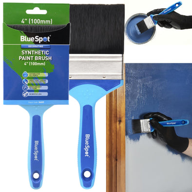 "BlueSpot Synthetic Paint Brush with Soft Grip Handle 100mm (4"")"