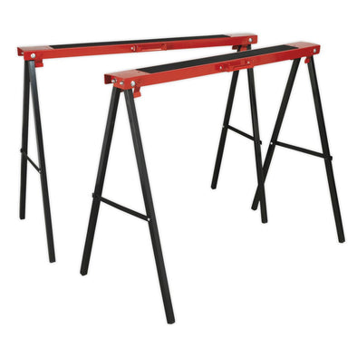 Sealey Fold Down Trestles Pair 100kg Capacity per Trestle