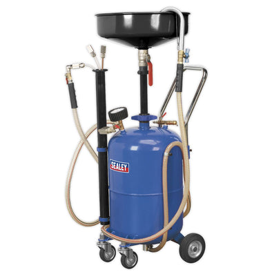 Sealey Mobile Oil Drainer with Probes 35L Air Discharge