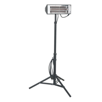 Sealey Infrared Quartz Heater with Telescopic Tripod Stand 1500W/230V