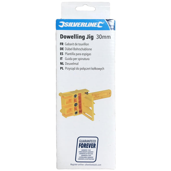 Silverline 30mm Dowelling Jig Wood Drill E L T Joints 6 8 10mm Quick Dowel Drilling