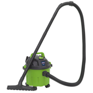 Sealey Vacuum Cleaner Wet and Dry 10L 1000W 230V Hi Vis Green