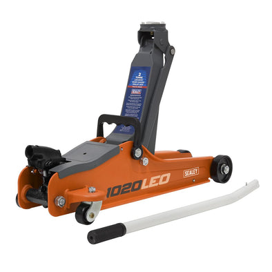 Sealey Trolley Jack 2tonne Low Entry Short Chassis - Orange