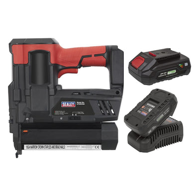 Sealey Cordless Staple/Nail Gun Kit 18G 20V - 2 Batteries
