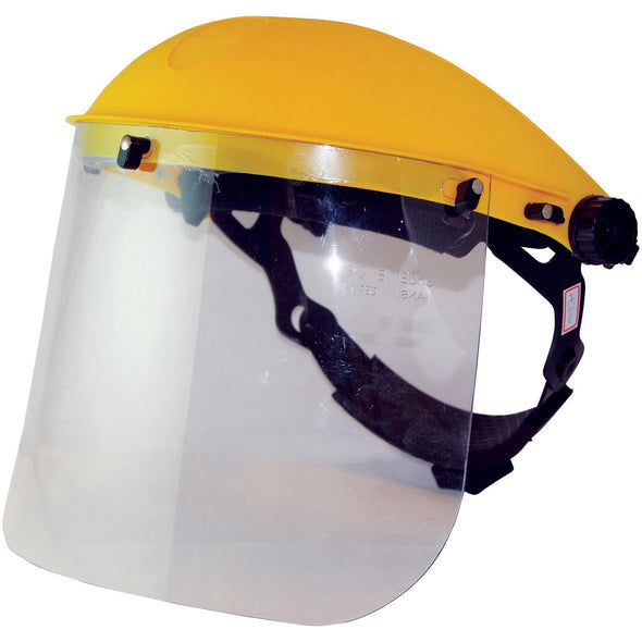 Silverline Visor Face Shield With Ratchet Adjustment Resistant Helmet