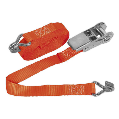 Sealey Ratchet Tie Down 25mm x 4.5m Polyester Webbing 800kg Load Test