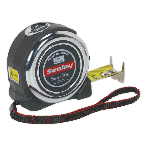 Sealey Professional Tape Measure Chrome Body 5m or 8m