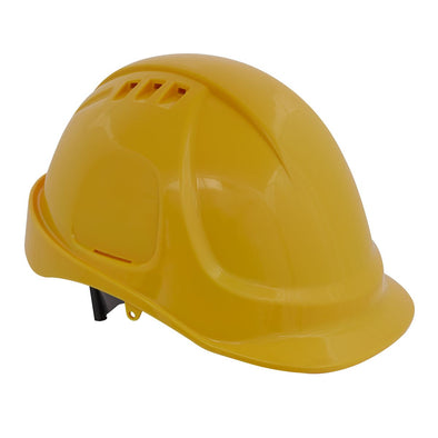Worksafe by Sealey Plus Safety Helmet - Vented (Yellow)