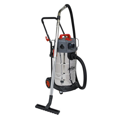 Sealey Vacuum Cleaner Industrial Dust-Free Wet/Dry 38L 1500W/230V Stainless Steel Drum M Class Filtration