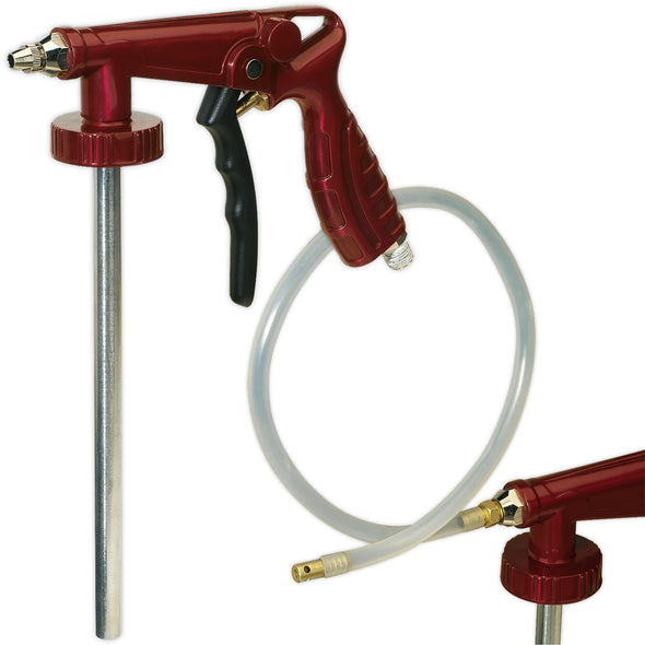 "Sealey Air Operated Underbody Coating Gun 1/4"" BSP with Flexible Hose"