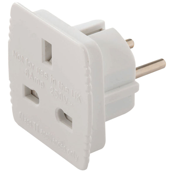 Power Master UK to EU Travel Adaptor 13A 230V